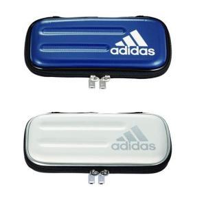アディダス adidas ペンケース(筆入れ)紺銀 白銀 セミハードタイプ 三菱鉛筆 PT-1502 新学期 入学(メール便NG)|s-bunkadou
