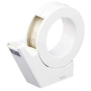 テープカッター GLOO 吸盤 ハンディタイプ 大巻き 専用 白 T-GM500W コクヨ メール便NG|s-bunkadou
