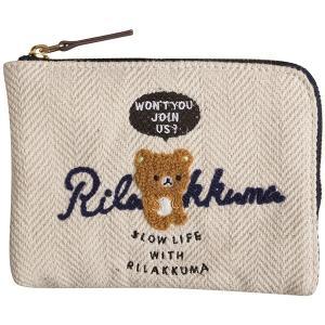 リラックマ 財布 スリムワレット サガラ刺繍 WL32501 サンエックス ナチュラル かわいいメール便OK|s-bunkadou