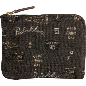 リラックマ 財布 スリムワレット ゴブラン織り WL32601 サンエックス ナチュラル かわいいメール便OK|s-bunkadou