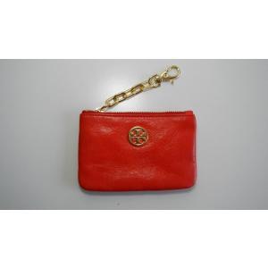トリーバーチ TORY BURCH コインケース カードケース 財布 ファスナー レザー 革 赤 レッド レディース|s-doubleone