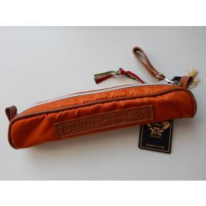 Orobianco オロビアンコ ペンケース オレンジ イタリア製 メンズ レディース|s-doubleone
