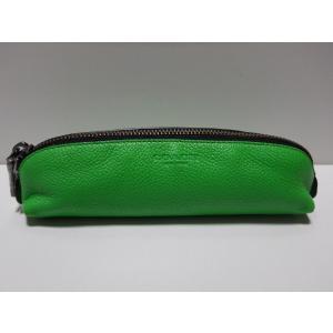 コーチ COACH メンズ ペンケース グリーン 緑色 レザー 革 |s-doubleone