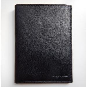 COACH コーチ パスポートケース パスポートカバー 黒 ブラック レザー 革 メンズ レディース s-doubleone