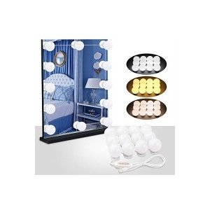 Speclux 女優ライト メイクアップライト ハリウッドスタイル led鏡用ライト USB式 省エネ 化粧ライト 12個led電球3色|s-frontier