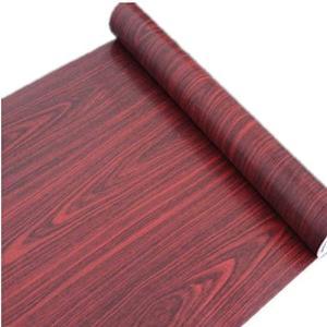 【ノーブランド品】 簡単 模様替え おしゃれ 木目風 壁紙シール 45cm幅 × 10m (ワインレッド)|s-frontier