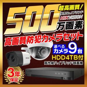 防犯カメラ 屋外 屋内 500万画素 監視カメラ 選べる 9台 16ch レコーダー セット HDD4TB付属 HD-TVI FIXレンズ 赤外線カメラ 遠隔監視|s-guard