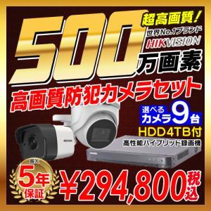 防犯カメラ 監視カメラ 9台 屋外 バレット型 屋内 ドーム型 から選択 + 16ch レコーダーセ...