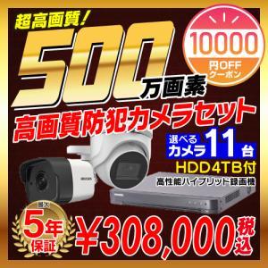 防犯カメラ 監視カメラ 11台 屋外 バレット型 屋内 ドーム型 から選択 + 16ch レコーダー...