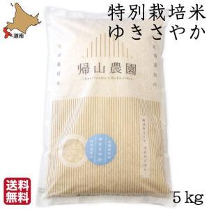 予約受付中【令和3年度米】 特別栽培米 北海道 ゆきさやか 5kg 帰山農園 白米 精米 知内 帰山農園 産地直送 送料無料|s-hokkaido