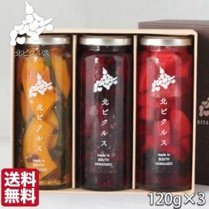 お歳暮 北ピクルス 無添加 北海道 3本セット (120g/瓶) かぼちゃ ビーツ りんご  ギフト 農家直送野菜 送料無料 s-hokkaido