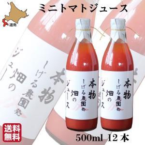 ミニトマトジュース 無添加 北海道 6000ml (赤 500ml×12本) セット カラートマト アイコ 農家直送 北斗市 しげる農園 飲み比べ s-hokkaido