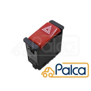 HELLA 003916011 12V Red Push Type Hazard Flasher Switch