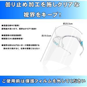 フェイスシールド メガネ型  3セット  飛沫防止  国内発送 新型コロナウイルスやインフルエンザの飛沫感染予防に! s-label