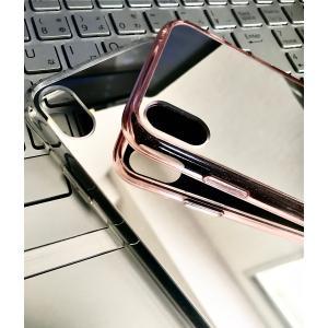 iPhone XR  MIRROR  iPhone XRミラー  ワイヤレス充電(Qi規格)対応 おしゃれに 背面ミラー スマホケース|s-label