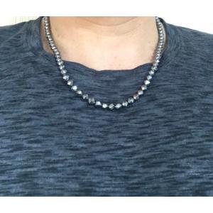 6mm テラヘルツネックレス 輝きが違う!ダイヤカット ドイツ産 テラヘルツ鉱石  パワーストーン 人工鉱石|s-label