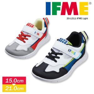 イフミー 子供靴 15cm 子供靴 軽量 スニーカー キッズ 男の子 運動靴 幼稚園 学校 ブルー ...