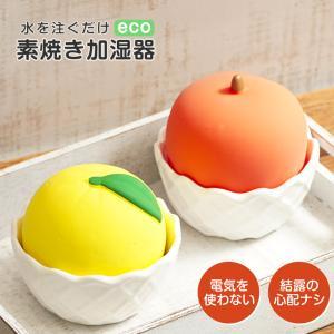 加湿器 卓上 オフィス 小型 エコ加湿器 素焼きポット 陶器 かわいい りんご 電気を使わない 自然...