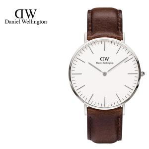 Daniel Wellington ダニエルウェリントン ユニセックス ボーイズ 0209DW Classic Bristol 40mm 腕時計 レザーバンド カラー/シルバー サイズ/|s-musee
