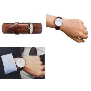 Daniel Wellington ダニエルウェリントン ユニセックス ボーイズ 0209DW Classic Bristol 40mm 腕時計 レザーバンド カラー/シルバー サイズ/|s-musee|02