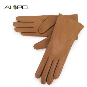 ALPO アルポ レディース NAPPA2 Cash シープレザー ナッパレザー グローブ 手袋 手ぶくろ アームウェア 羊革 カラーCAMEL サイズ/7 19440|s-musee