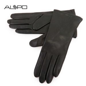 ALPO アルポ レディース NAPPA2 Cash シープレザー ナッパレザー グローブ 手袋 手ぶくろ アームウェア 羊革 カラーBLACK サイズ/7 19440|s-musee