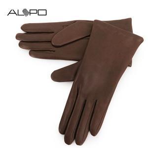 ALPO アルポ レディース NAPPA2 Cash シープレザー ナッパレザー グローブ 手袋 手ぶくろ アームウェア 羊革 カラーCONKER サイズ/7 19440|s-musee