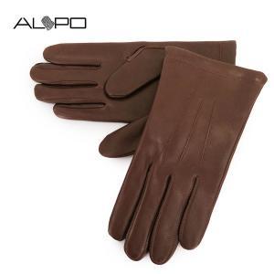 ALPO アルポ メンズ NAPPA LANA シープレザー ナッパレザー グローブ 手袋 手ぶくろ アームウェア 羊革 カラーCONKER サイズ/8.5 21600|s-musee