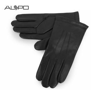 ALPO アルポ メンズ NAPPA LANA シープレザー ナッパレザー グローブ 手袋 手ぶくろ アームウェア 羊革 カラーBLACK/ブラック サイズ/8.5 21600|s-musee