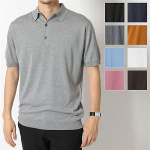JOHN SMEDLEY ジョンスメドレー ADRIAN STANDARD FIT シーアイランドコットン 半袖 ポロシャツ ニット セーター カラーBLACK 29160|s-musee