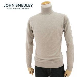ジョンスメドレー メンズ BELVOIR SLIMFIT ベルボア タートルネック ハイネック  ニット セーター ハイゲージ カラーEASTWOOD BEIGE サイズ/S/M/L/XL 34560|s-musee
