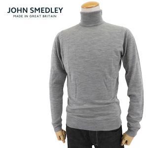 ジョンスメドレー メンズ BELVOIR SLIMFIT ベルボア タートルネック ハイネック  ニット セーター  カラーSILVER サイズ/S/M/L/XL 34560|s-musee