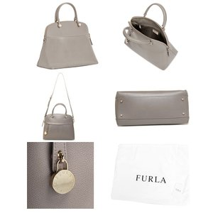 FURLA フルラ レディース 851235 BFK9 ARE PIPER M パイパー レザー 2way ハンドバッグ ショルダーバッグ カラーSABBIA b/ライトグレー 60480|s-musee|02