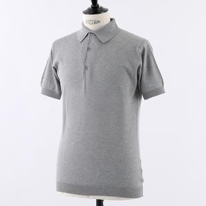 JOHN SMEDLEY ジョンスメドレー ADRIAN STANDARD FIT シーアイランドコットン 半袖 ポロシャツ ニット セーター カラーSILVER 29160|s-musee