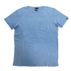 Deus Ex Machina デウスエクスマキナ DMP51369 WEIPLAN TEE クルーネック 半袖 Tシャツ カットソー ポケT ヴィンテージ カラーWASHD-BLUE|s-musee