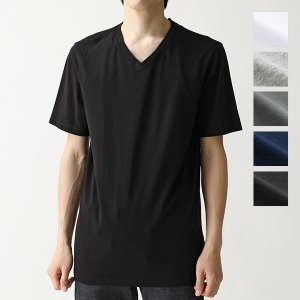 three dots スリードッツ Vネック 半袖 Tシャツ ショートスリーブ カットソー 無地 B...