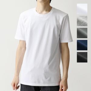 three dots スリードッツ クルーネック 半袖 Tシャツ ショートスリーブ カットソー 無地...