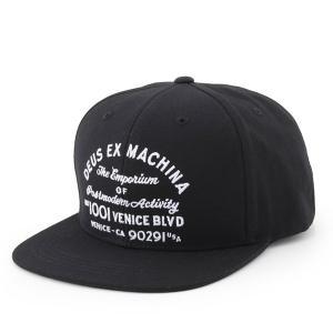 Deus Ex Machina デウスエクスマキナ DMP77460C Venice LA Baseball ロゴ刺繍 コットンキャップ ベイスボールキャップ 帽子 カラーBLACK/ブラック|s-musee