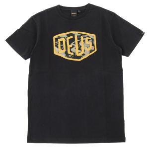 Deus Ex Machina デウスエクスマキナ DMP71422 Aloha Shield Tee クルーネック 半袖 Tシャツ カットソー カラーBLACK/ブラック 6480メンズ|s-musee