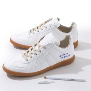 Maison Margiela 22 メゾンマルジェラ S57WS0153 S47960 Replica low Sneaker ペーパーエフェクト レプリカ スニーカー ペン付き カラー961 84240 s-musee
