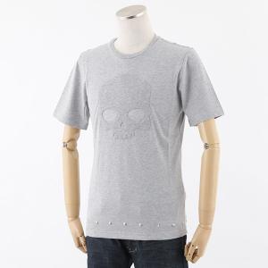 HYDROGEN ハイドロゲン 214150 SKULL STUDS T-SHIRT ロックスタッズ 半袖 Tシャツ カットソー スカル カラー015/GREY-MELANGE 23760|s-musee