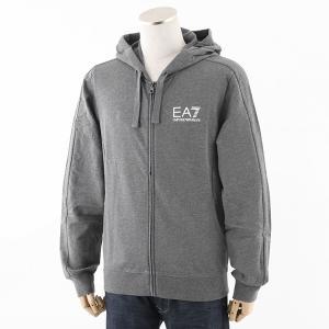 EA7 EMPORIO ARMANI エンポリオアルマーニ 6YPM59 PJ05Z スウェット パーカー ブルゾン ジャケット カラー3925/グレー メンズ|s-musee