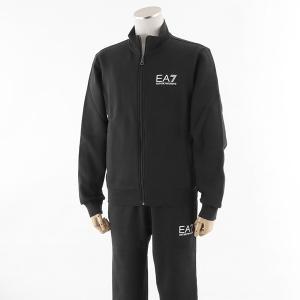 EA7 EMPORIO ARMANI エンポリオアルマーニ 6YPV51 PJ07Z 上下セット セットアップ フルジップアップパーカー+パンツ スウェット スエット カラー1200/ブラック|s-musee
