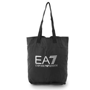 EA7 EMPORIO ARMANI エンポリオアルマーニ 245001 CC801 00020 収納式 トートバッグ エコバッグ ナイロンバッグ カラーBLACK メンズ|s-musee