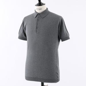 JOHN SMEDLEY ジョンスメドレー ADRIAN STANDARD FIT シーアイランドコットン 半袖 ポロシャツ ニット セーター カラーCHARCOAL メンズ|s-musee