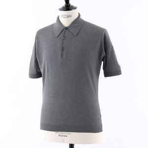 JOHN SMEDLEY ジョンスメドレー Isis EASY FIT シーアイランドコットン 半袖 ニット セーター イングリッシュ ポロシャツ カラーCHARCOAL メンズ|s-musee