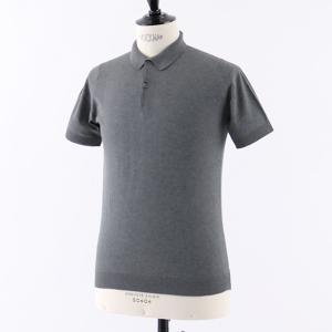 JOHN SMEDLEY ジョンスメドレー RHODES STANDARD FIT シーアイランドコットン 半袖 ポロシャツ ニット セーター カラーCHARCOAL メンズ|s-musee