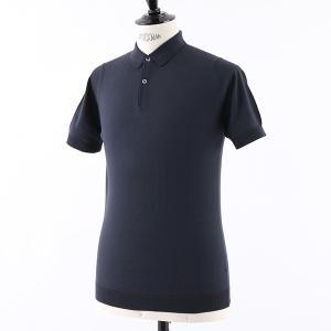 //JOHN SMEDLEY ジョンスメドレー RHODES STANDARD FIT シーアイランドコットン 半袖 ポロシャツ ニット セーター カラーNAVY メンズ|s-musee