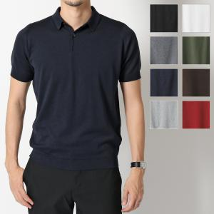 //JOHN SMEDLEY ジョンスメドレー RHODES STANDARD FIT シーアイランドコットン 半袖 ポロシャツ ニット セーター カラーBLACK メンズ|s-musee
