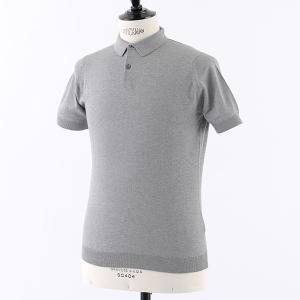 //JOHN SMEDLEY ジョンスメドレー RHODES STANDARD FIT シーアイランドコットン 半袖 ポロシャツ ニット セーター カラーSILVER メンズ|s-musee